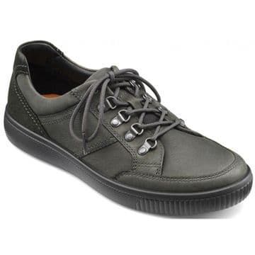 Hotter 'Edge' Men's Casual Shoe - Black Waxed Nubuck/Suede