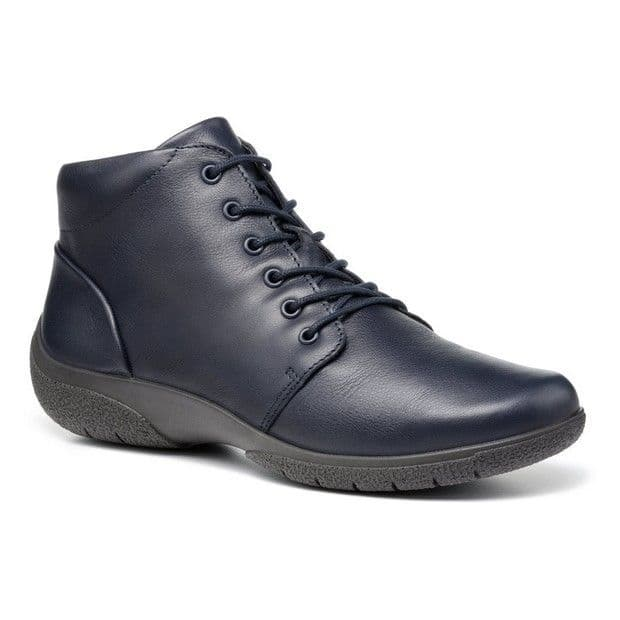 Hotter 'Ellery II' Women's Wide Fitting Lightweight Ankle Boots - Navy Leather EXF