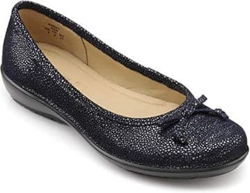 Hotter 'Emmy' Women's Shoe - Navy Multi Suede EXF