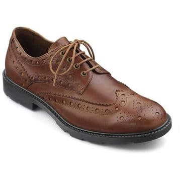 Hotter 'Falcon' Lace up Brogue - Tan Leather
