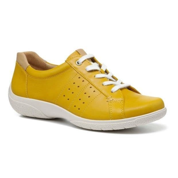 Hotter Fearne II Women's Lace-up Shoe - Yellow Leather