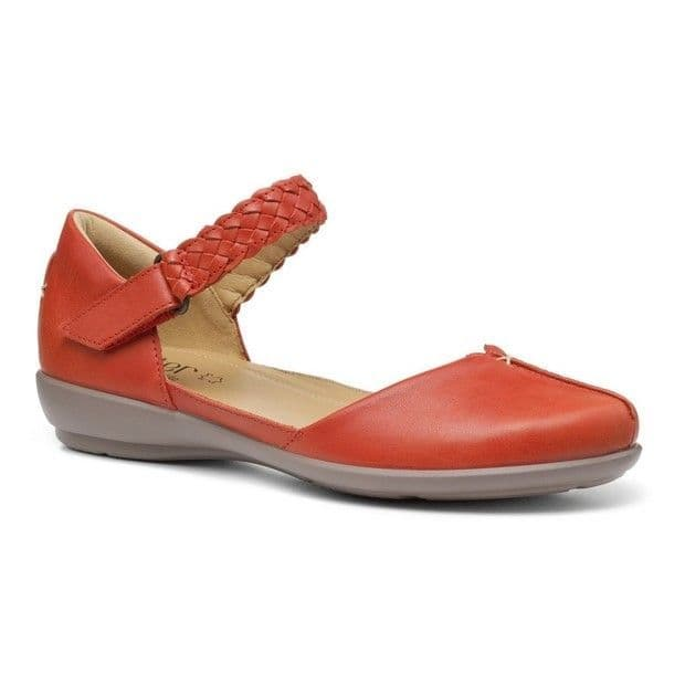 Hotter Lake Women's Summer Shoe - Clay Red Leather