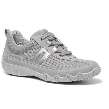 Hotter 'Leanne' Women's Lace-Up Trainer Shoe - Pebble Grey STD