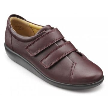 Hotter 'Leap' Women's Touch Close Shoes - Maroon Leather EXF