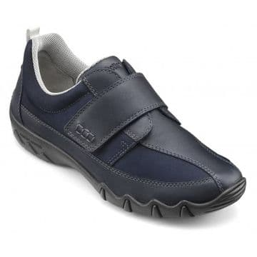 Hotter 'Nicole' Women's Wide Fitting Lightweight Shoes - Navy Leather/Nubuck EXF