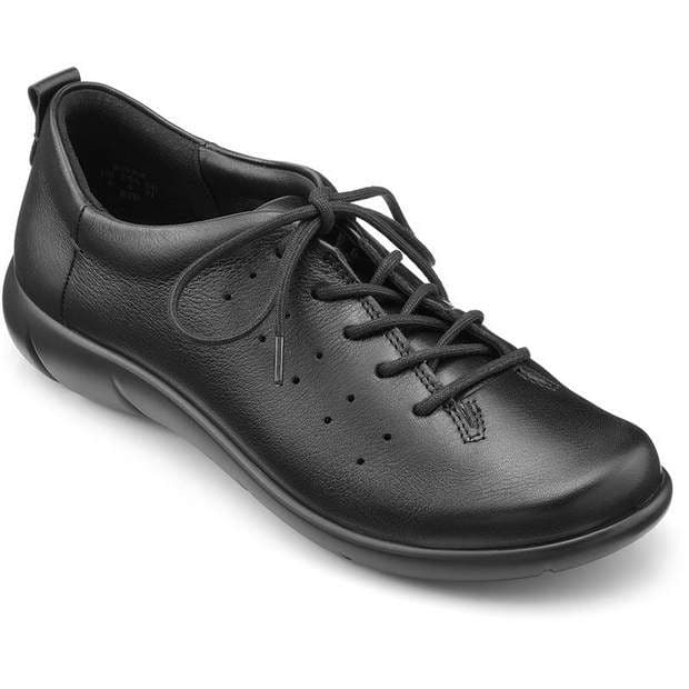 Hotter 'River' Women's Lace-Up Shoes - Black Leather STD