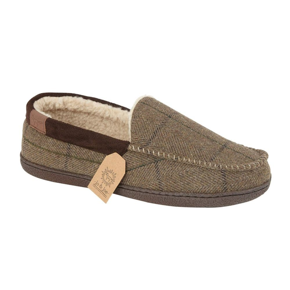 Jo & Joe 'Glengarry' Men's Slippers - Brown
