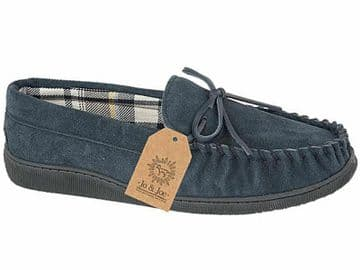 Jo & Joe 'New England' Men's Moccasin Slipper - Navy
