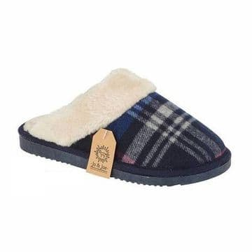 Jo & Joe 'Shetland' Women's Mule Slipper - Navy