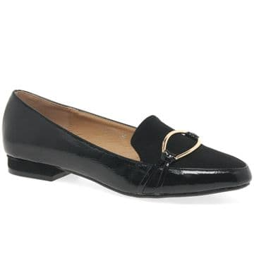 Lunar 'Asha' Women's Brooch Slip On Shoes - Black