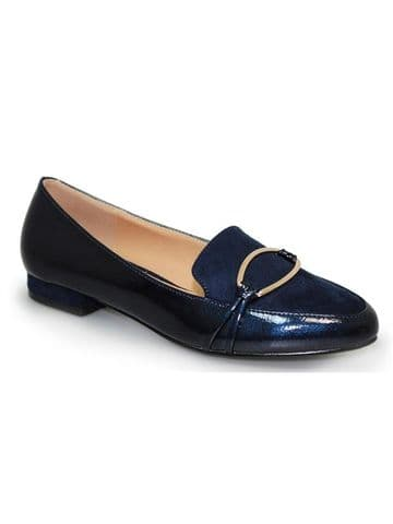Lunar 'Asha' Women's Brooch Slip On Shoes - Navy