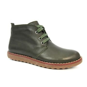 Lunar 'Claire' Women's Lace-up Leather Boots - Green