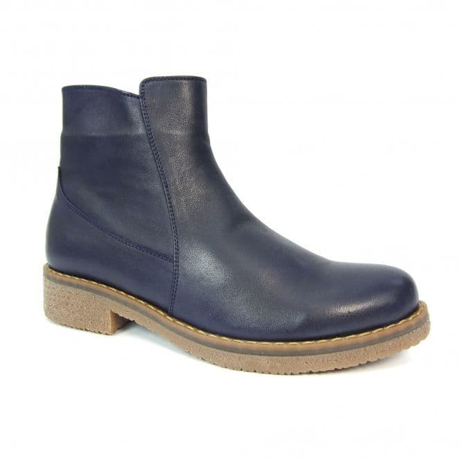 Lunar 'Henni' Women's Leather Ankle Boots - Navy