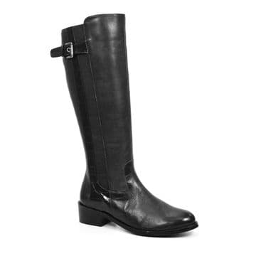 Lunar 'Juno' Women's Long Boot - Black Leather