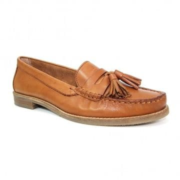 Lunar 'Macadamia' Women's Leather Loafer Shoe - Tan