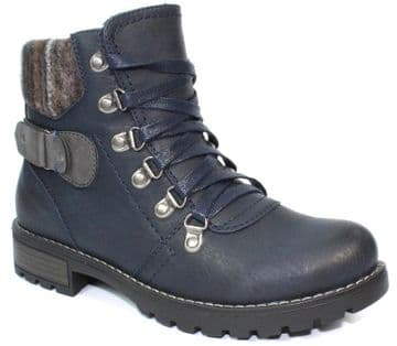 Lunar 'Marilyn' Women's Ankle Boots - Navy
