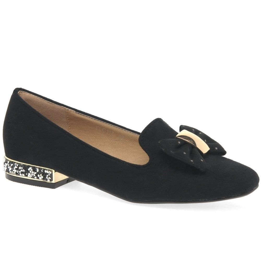 Lunar 'Rutter II' Women's Bow Loafer - Black