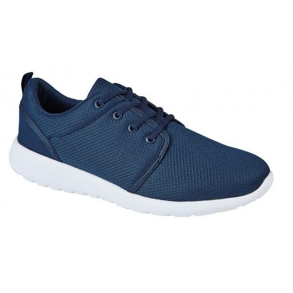 Men's Lace up Casual Trainer - Navy