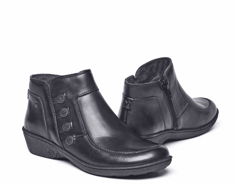 Moshulu 'Fruit Drop' Women's Ankle Boots - Black Leather