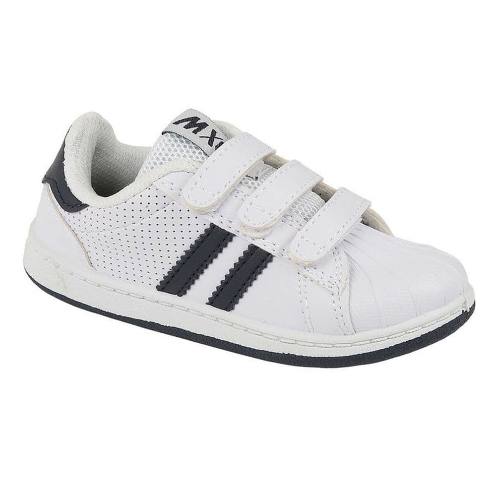 MX2 'Spin' Boys Trainers - White/Navy