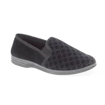 Shoe Tree 'Austin' Men's Slipper - Black