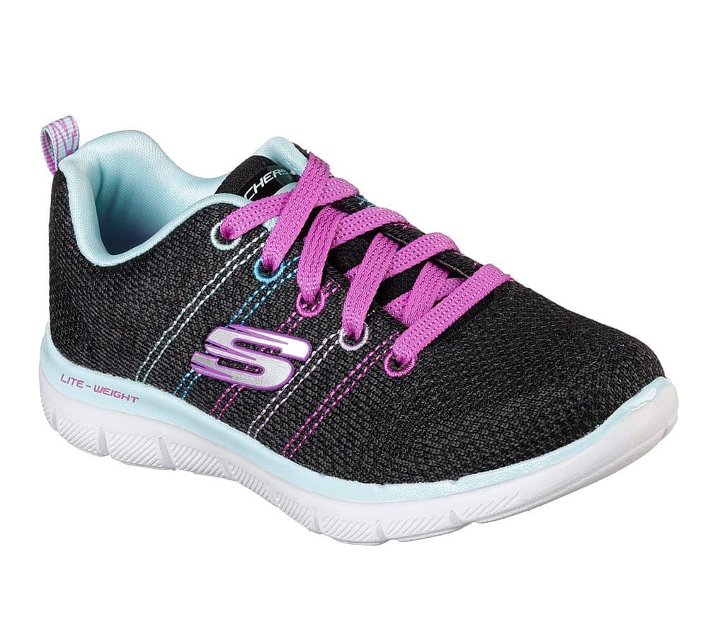 Skechers Girls High Energy Trainer - Black Multi