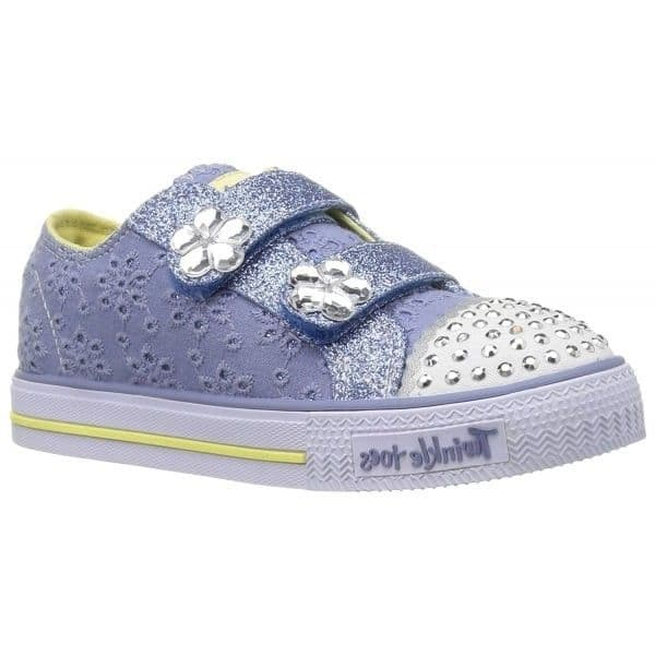 Skechers Petal Pop Girls Twinkle Toes Trainers - Blue