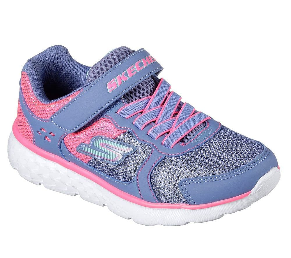 Skechers Sparkle Sprinters Girls Trainers - Blue/Pink