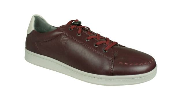 Sledgers 'George' Men's Lace up Trainer/Shoes - Wine