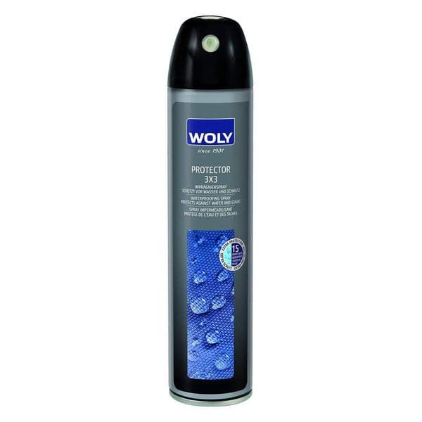 WOLY 3x3 Waterproof Leather/Suede/Nubuck/Fabric Protector Spray 400ml