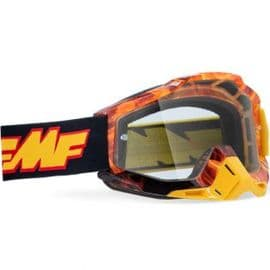 100% FMF Powerbomb Spark Clear Lens Goggles