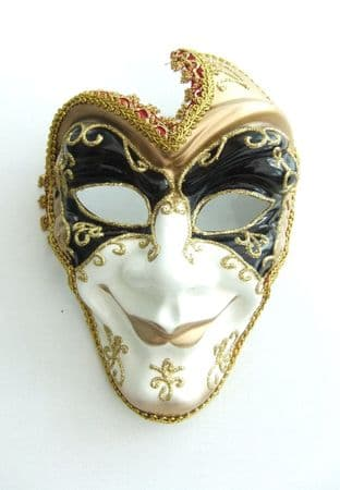 Gents full face mask with headband or ribbons