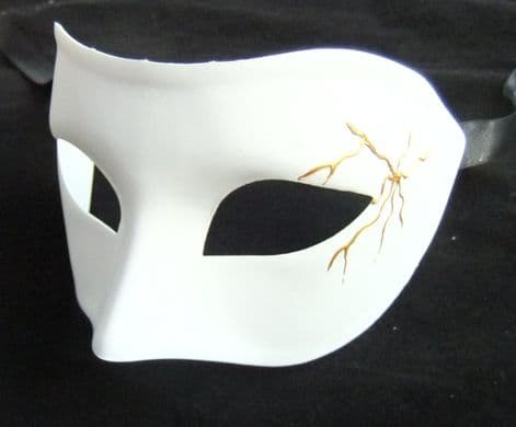 White Mask with gold design