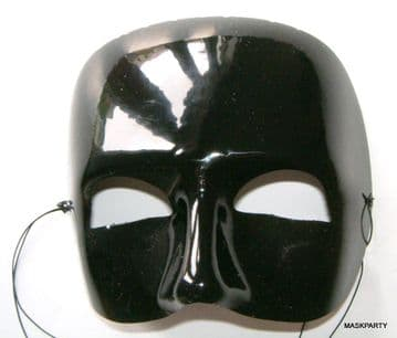 Black Glossy Phantom half Mask