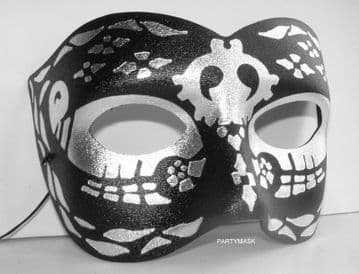 Black & Silver Metallic  colored eye Mask