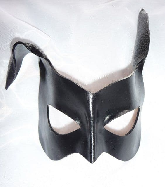 Exclusive Design Genuine Handmade Black Bunny Rabbit Leather Mask