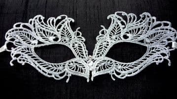 Fabulous Silver Lace Eye Mask 1 (other colours available)