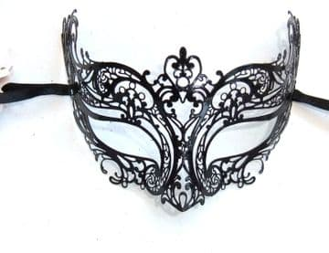 Genuine Venetian Black Metal Mini Petite Eye Mask 3