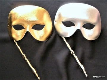 Gold or Silver Stick eye masks