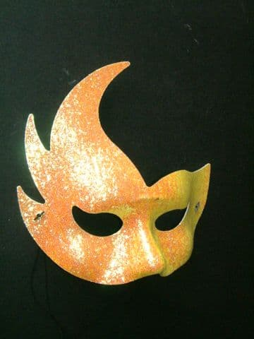 Gold Sparkly Flame Mask