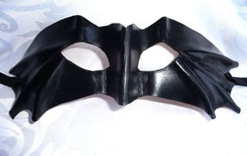 Mens Genuine Handmade Italian Leather  Mask ( WILL FIT OVER GLASSES ) other colours on request (1)