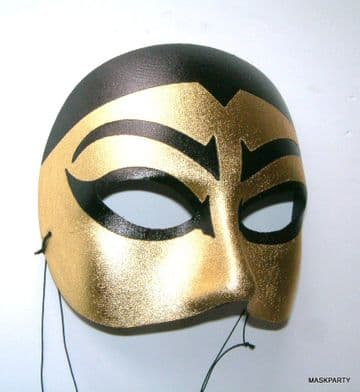 Ming mask in gold & black color