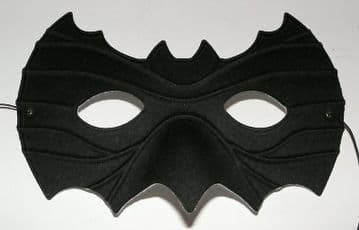 Shaped Black Bat Mask