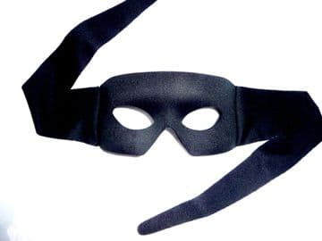 Shaped Black Zorro Mask (suitable over glasses)
