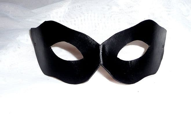 Unisex Genuine Handmade  Shaped Leather  Mask (WILL FIT OVER GLASSES) other colours on request