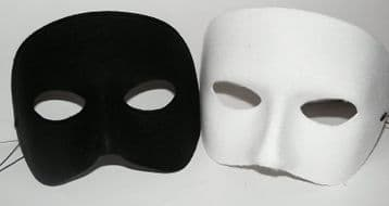 White/Black half Phantom Masks