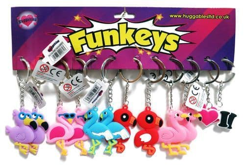12 x Flamingo Key Chains.