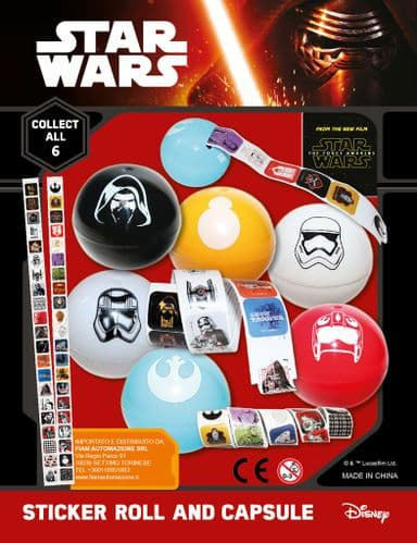 55mm Star Wars Sticker Roll x 100  (LAST BAG)