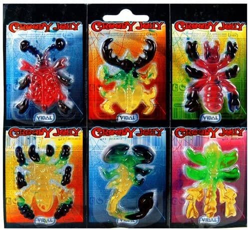 Creepy Jelly x 66 individually wrapped  jelly creatures