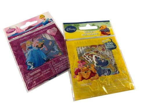 Disney Stickers Collection - Each bag contains 100 licensed stickers